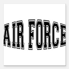 "airforcebulge.png Square Car Magnet 3"" x 3"""