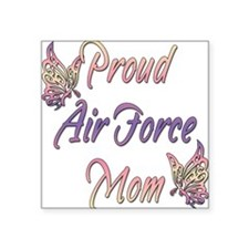 "proudairforcemombutterfly.png Square Sticker 3"" x"