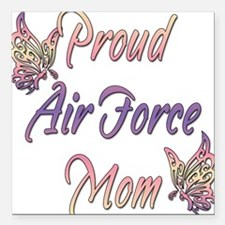 """proudairforcemombutterfly.png Square Car Magnet 3"""""""