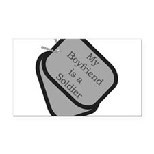 My Boyfriend is a Soldier dog Rectangle Car Magnet