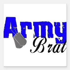 """armybrat99b1.png Square Car Magnet 3"""" x 3"""""""
