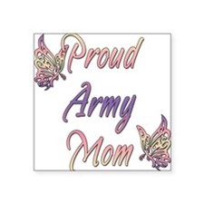 """proudarmymombutterfly.png Square Sticker 3"""" x 3"""""""