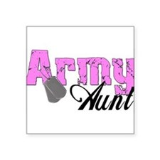 "armyaunt99.png Square Sticker 3"" x 3"""