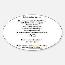 Colombianos famosos y yo Oval Decal