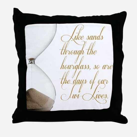 Days of our Twi-Lives Throw Pillow