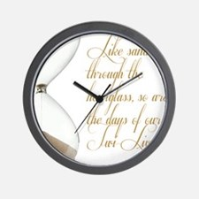 Days of our Twi-Lives Wall Clock