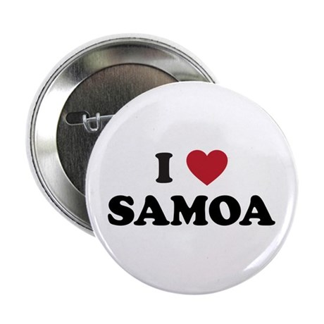 "I Love Samoa 2.25"" Button"