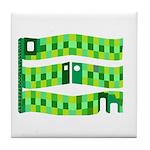 3-D Greens Tile Coaster