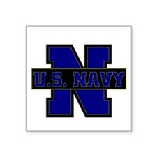 "US Navy Square Sticker 3"" x 3"""