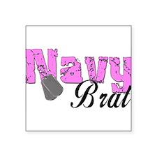 "navybrat99.png Square Sticker 3"" x 3"""