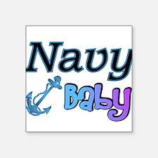 "navybabyboy.PNG Square Sticker 3"" x 3"""