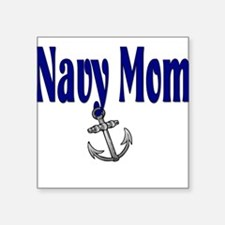 "navymomanchor.png Square Sticker 3"" x 3"""