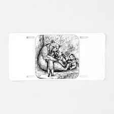 Black Bear Family Aluminum License Plate