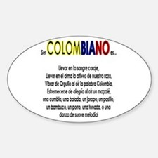Ser Colombiano es Oval Decal