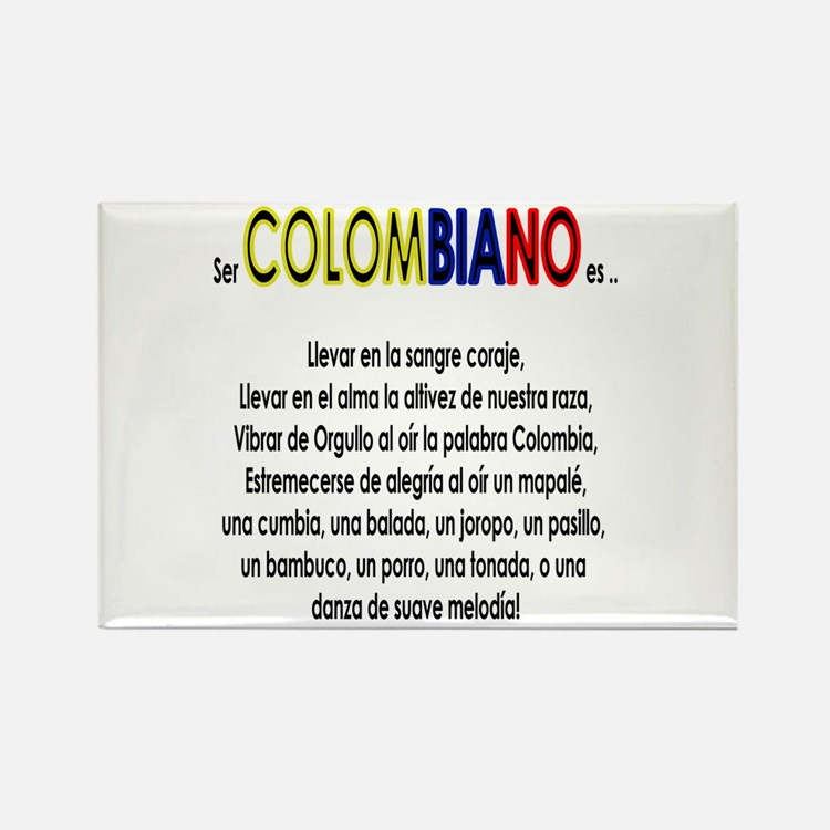 Ser Colombiano es Rectangle Magnet