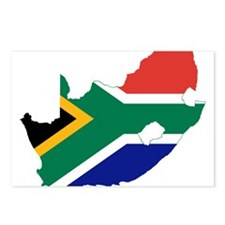 South Africa Flag and Map Postcards (Package of 8)