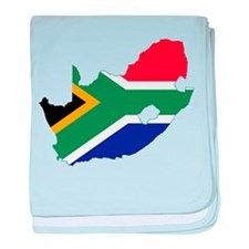 South Africa Flag and Map baby blanket