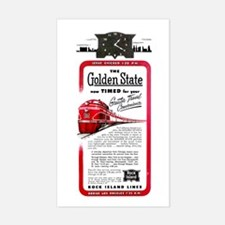 The Golden State Rectangle Decal