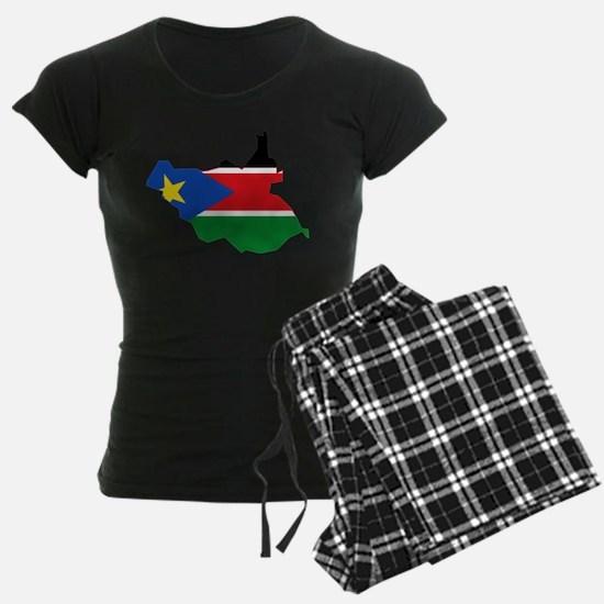 South Sudan Flag and Map Pajamas