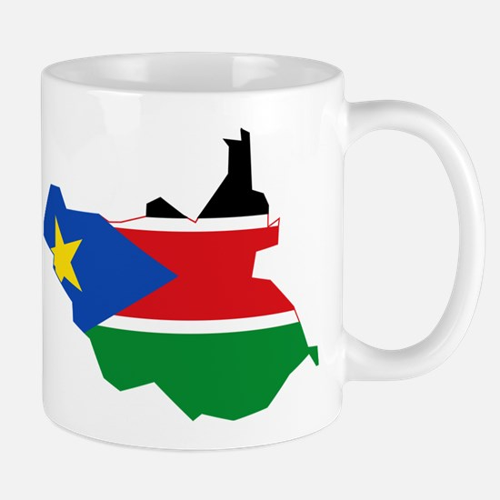 South Sudan Flag and Map Mug