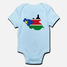 South Sudan Flag and Map Infant Bodysuit