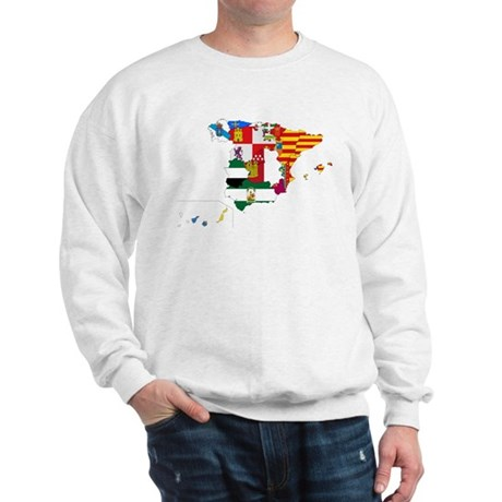 Spain Subdivisions Flag and Map Sweatshirt