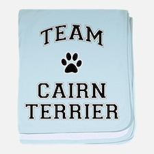Team Cairn Terrier baby blanket