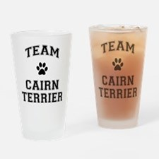 Team Cairn Terrier Drinking Glass