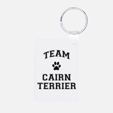 Team Cairn Terrier Aluminum Photo Keychain