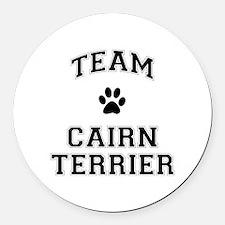 Team Cairn Terrier Round Car Magnet