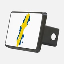 Sweden Flag and Map Hitch Cover