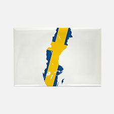 Sweden Flag and Map Rectangle Magnet