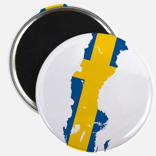 "Sweden Flag and Map 2.25"" Magnet (10 pack)"