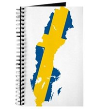 Sweden Flag and Map Journal
