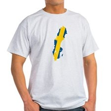 Sweden Flag and Map T-Shirt