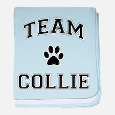Team Collie baby blanket