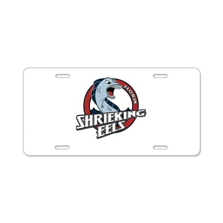 Florin Shrieking Eels Aluminum License Plate