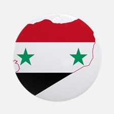 Syria Flag and Map Ornament (Round)