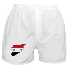 Syria Flag and Map Boxer Shorts