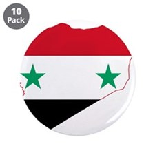 """Syria Flag and Map 3.5"""" Button (10 pack)"""