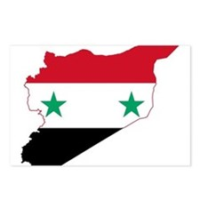 Syria Flag and Map Postcards (Package of 8)