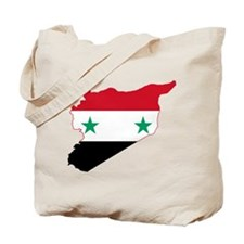 Syria Flag and Map Tote Bag