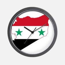 Syria Flag and Map Wall Clock