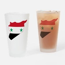 Syria Flag and Map Drinking Glass