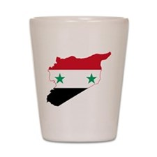 Syria Flag and Map Shot Glass
