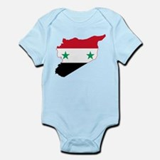 Syria Flag and Map Infant Bodysuit