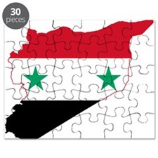 Syria Flag and Map Puzzle