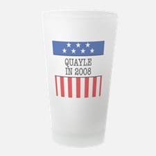 Quayle Stars and Stripes Bu Frosted Drinking Glass
