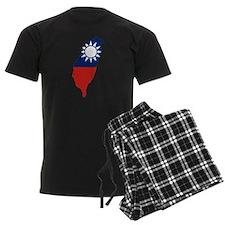 Taiwan Flag and Map Pajamas