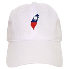 Taiwan Flag and Map Baseball Cap
